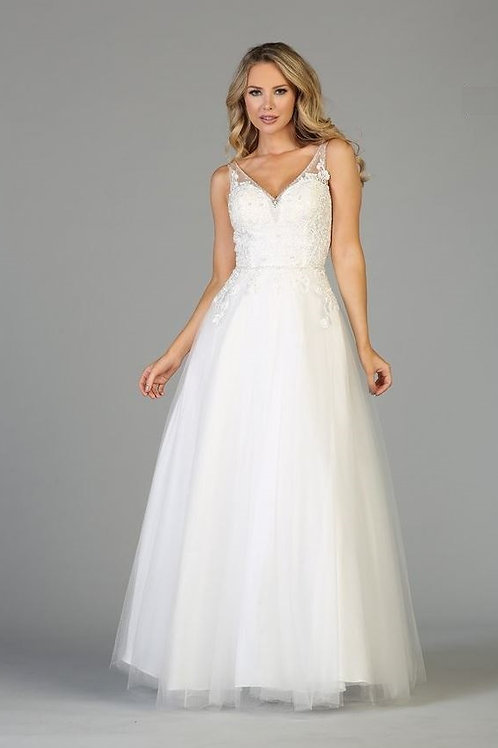 Off White A-Line Bridal Gown Size XS