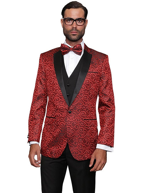 Red & Black Swirl Blazer