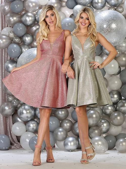 Mauve Glitter Short Dress Size 2
