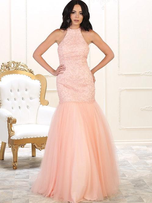 Blush Mermaid Long Dress Size 8