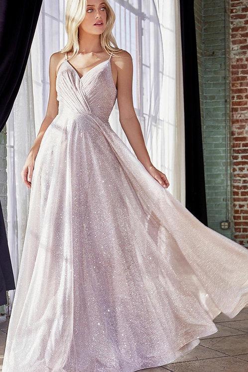 Champagne Glitter Long Dress Size 20