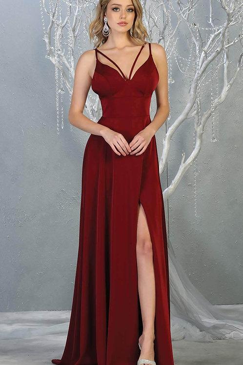 Burgundy Long Dress Size 2