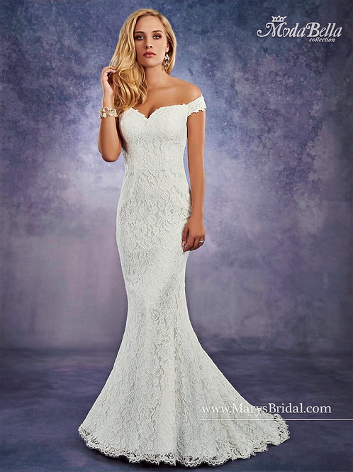 Ivory Lace Fit & Flair Bridal Gown Size 6