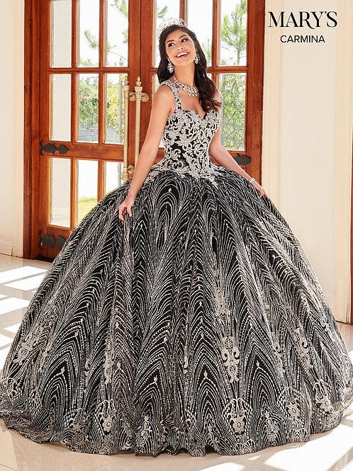 Black & Silver Glitter Ball Gown