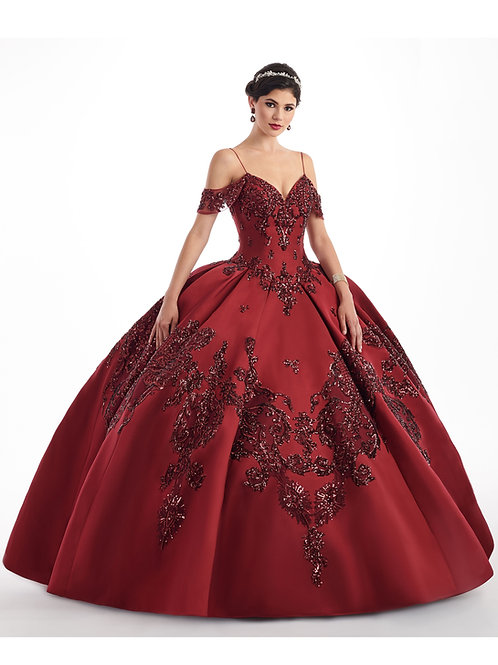 Wine Mikado Ball Gown Size 2