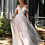 Thumbnail: Ivory Cold Shoulder Glitter Bridal Gown Size 6