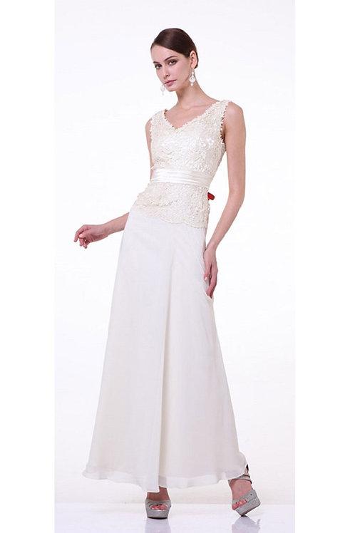 Cream Lace Bridal Gown Size L