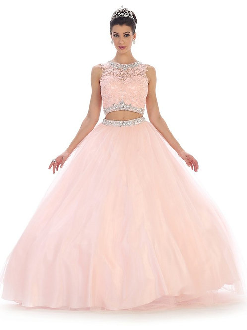 Blush 2 PC Ball Gown Size 4
