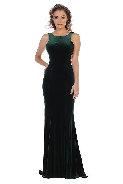 Hunter Green Velvet Long Dress Size 2