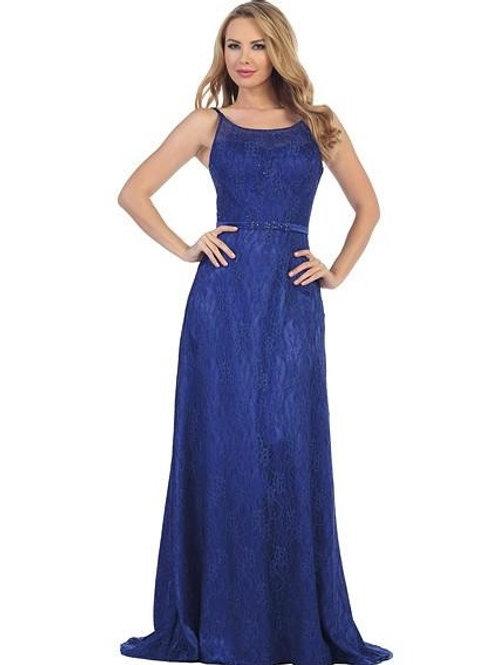 Royal Blue Lace Long Dress Size XS