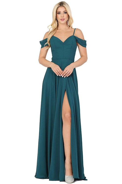 Hunter Green Off Shoulder Long Dress Size XL