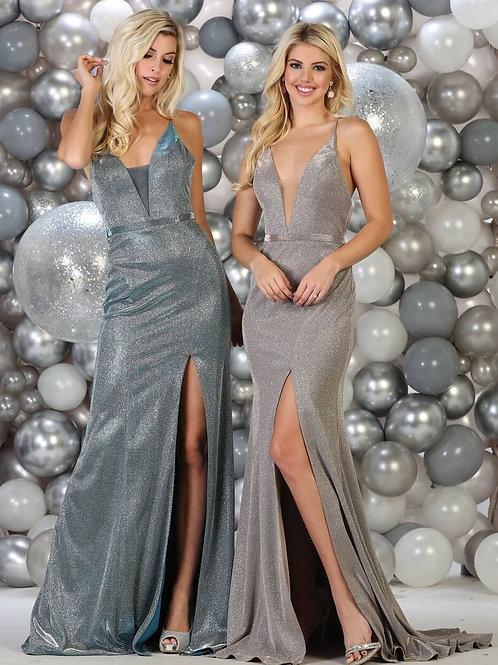 Champagne Glitter Long Dress Size 4