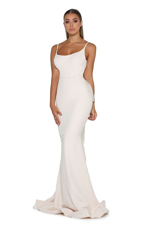 Cream Fit & Flare Bridal Gown Size 4