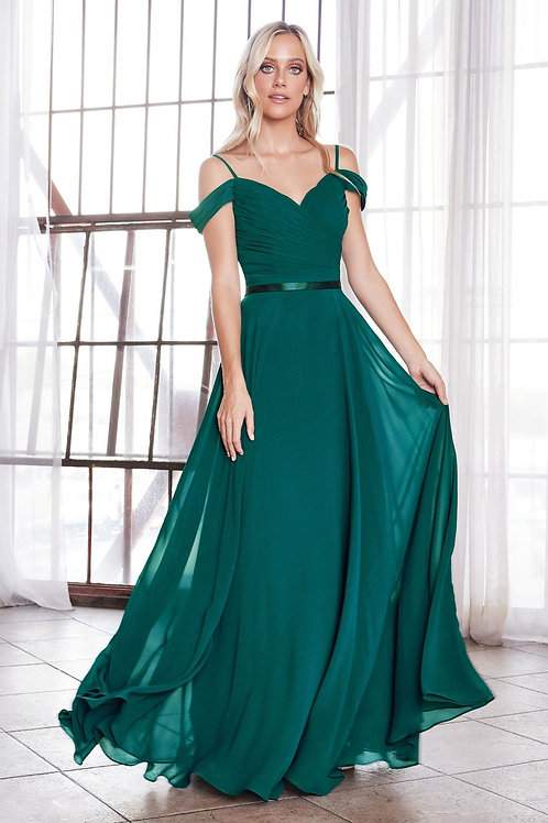 Teal Off Shoulder Long Dress Size 2XL