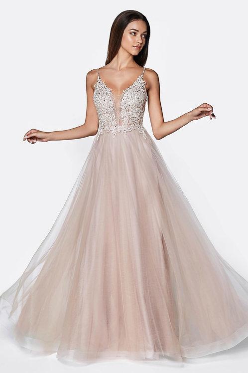 Mauve A-Line Gown Size 12