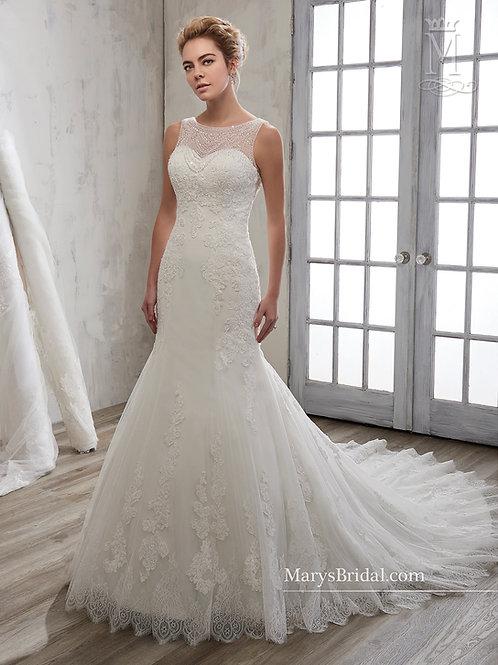 White Mermaid Bridal Gown Size 14