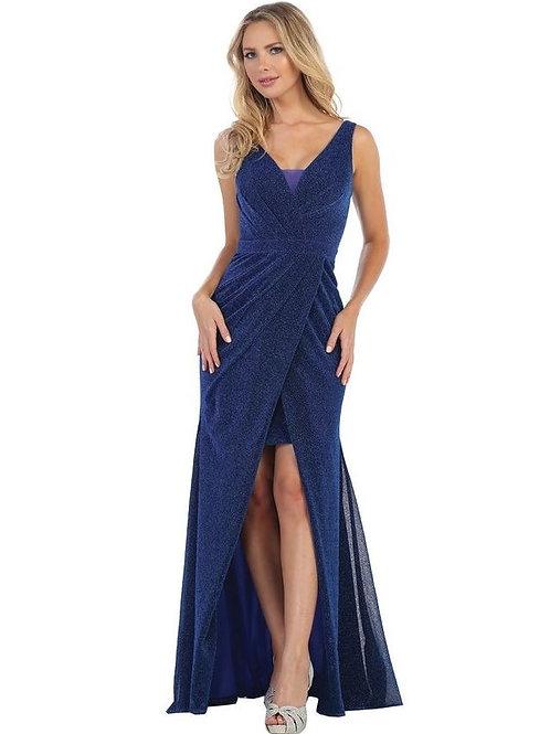 Royal Blue Metallic Long Dress Size M