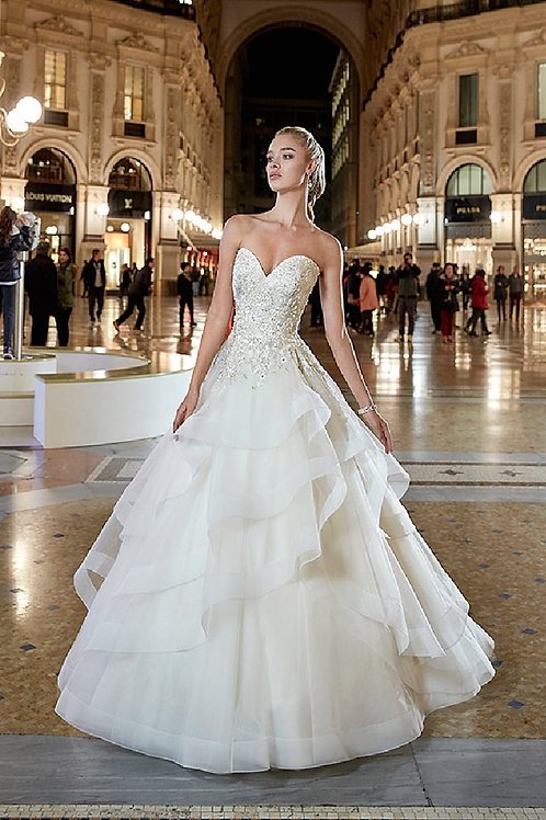 Ivory Sweetheart Bridal Ball Gown Size 8
