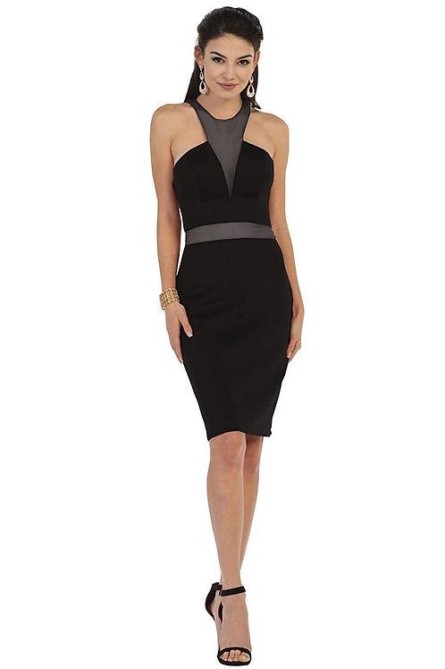 Black Illusion Short Dress Size 4, 6