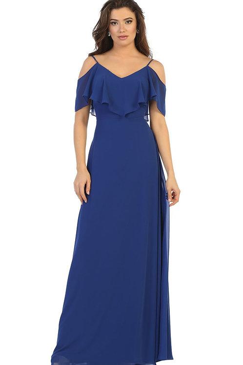 Royal Blue Off Shoulder Dress Size 18