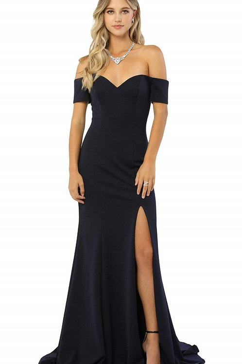 Navy Off Shoulder Long Dress Size XS