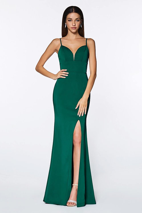 Emerald Fitted Long Dress Size 8