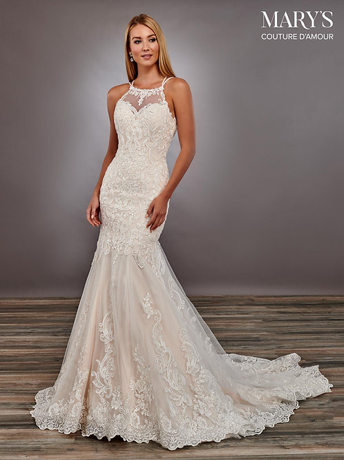 Ivory Lace Fit-n-Flare Bridal Gown Size 4