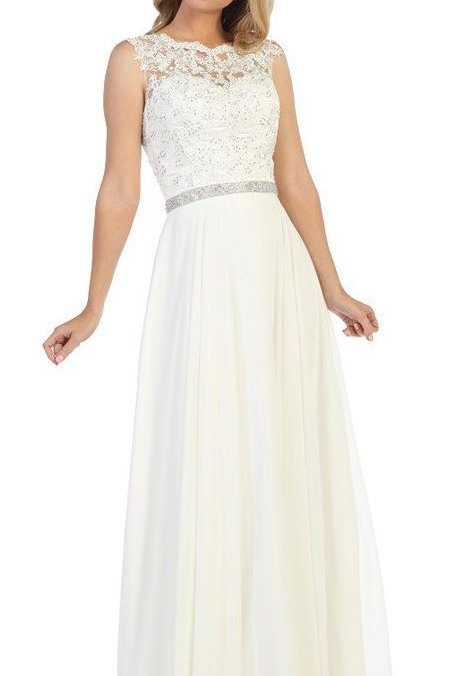 Ivory A-Line Semi Formal Bridal Gown Size 3XL