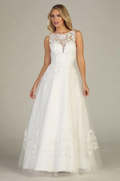 Off White Lace A-Line Bridal Gown Size 2XL