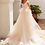 Thumbnail: Gold Satin Fit & Flare Bridal Gown With Detachable Train Size 8