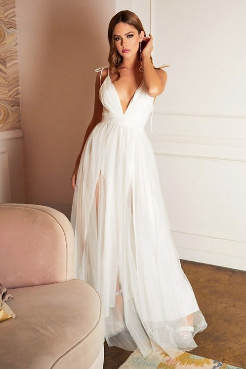 Off White Tulle Bridal Gown Size S, M, L