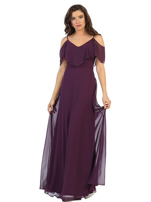 Eggplant Off Shoulder Dress Size 6