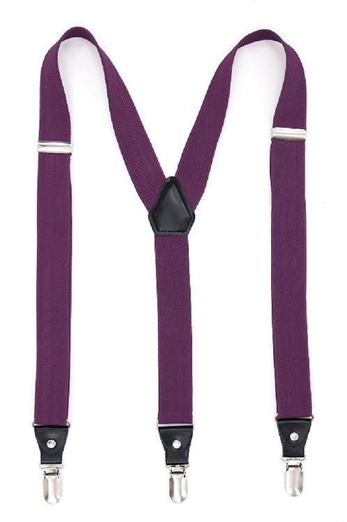 Purple Clip On Suspenders