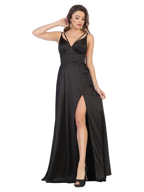 Black Satin Long Dress Size 4