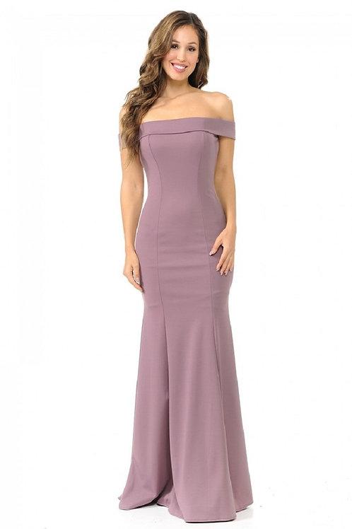 Plum Off Shoulder Long Dress Size S