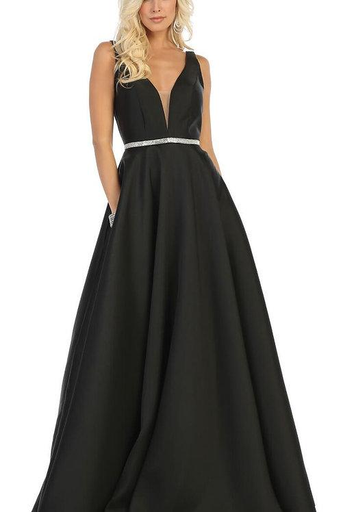Black A-Line Bridal Gown Size 8