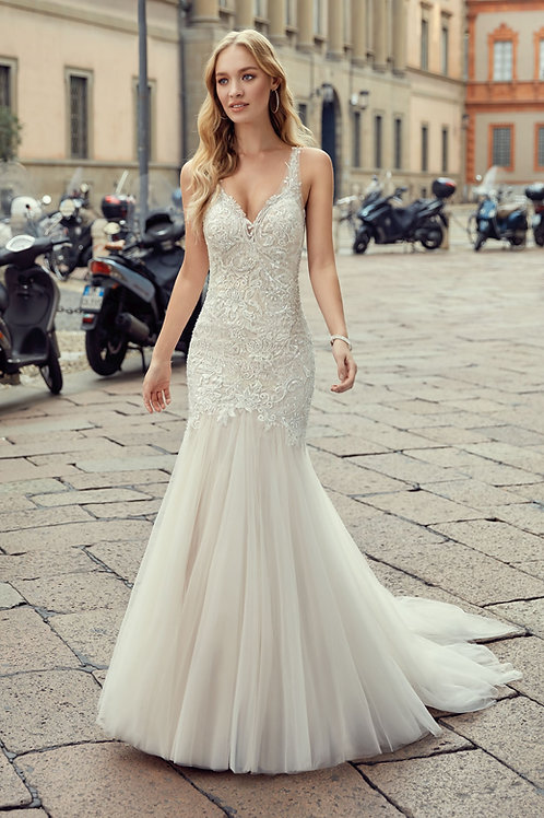 Champagne Mermaid Bridal Gown Size 8