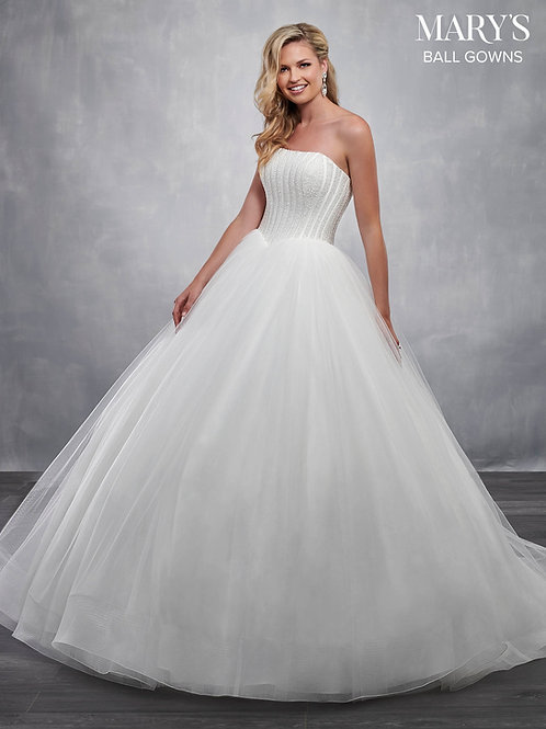 Ivory Strapless Bridal Ball Gown Size 8