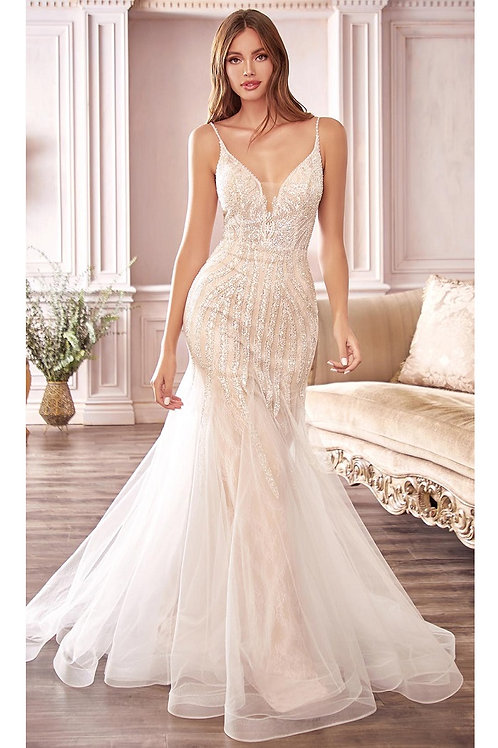 Off White Shimmer Bridal Gown Size 4, 8, 12