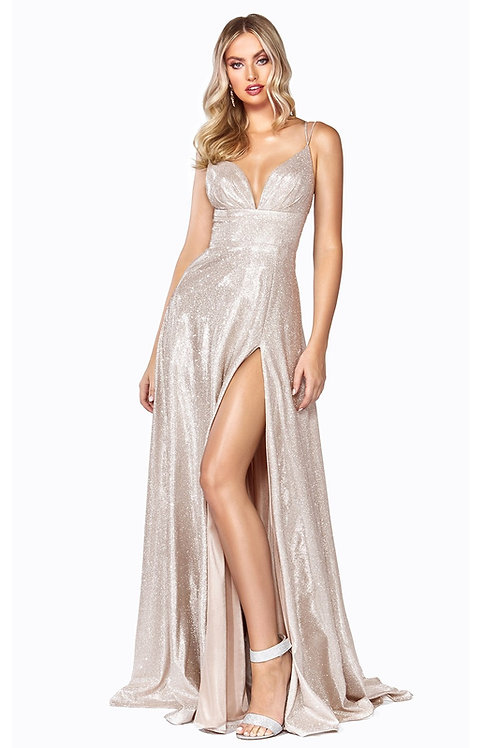 Champagne Glitter Bridal Gown Size 10