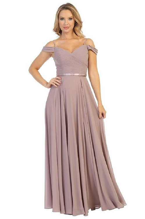 Mauve Chiffon Long Dress