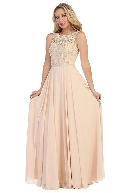 Champagne A-Line Bridal Gown Size XS