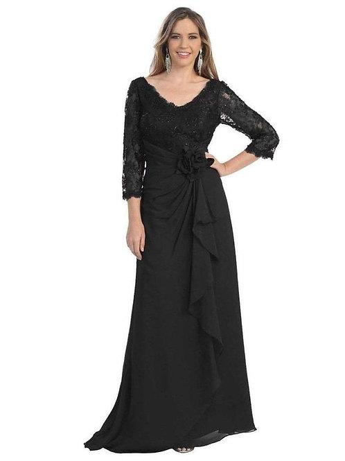 Black Lace Top Long Dress Size 2X, 5X