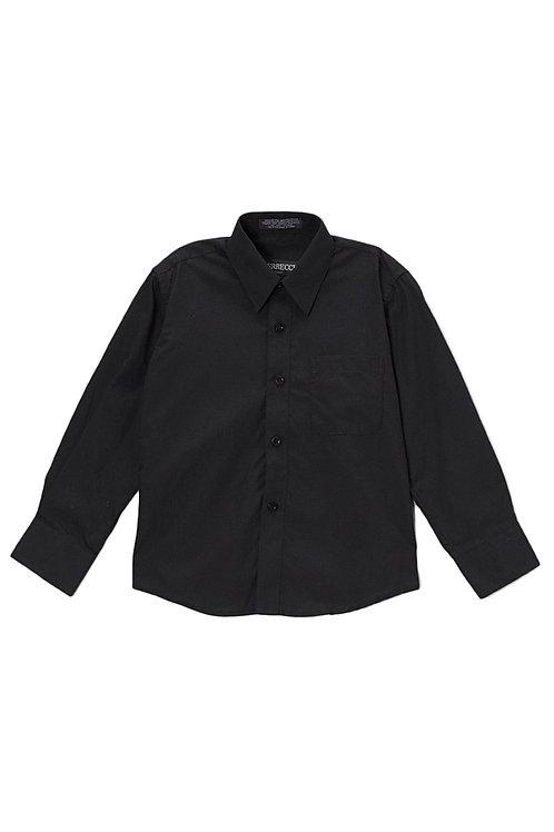 Boys Black Button Up Dress Shirt Size 6