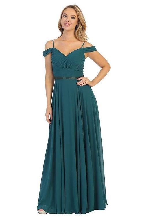 Green Off Shoulder Long Dress Size XL