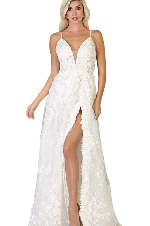 Off White A-Line Bridal Gown Size 2 & 6