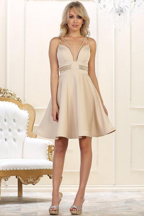 Champagne Cutout Short Dress Size 6, 8