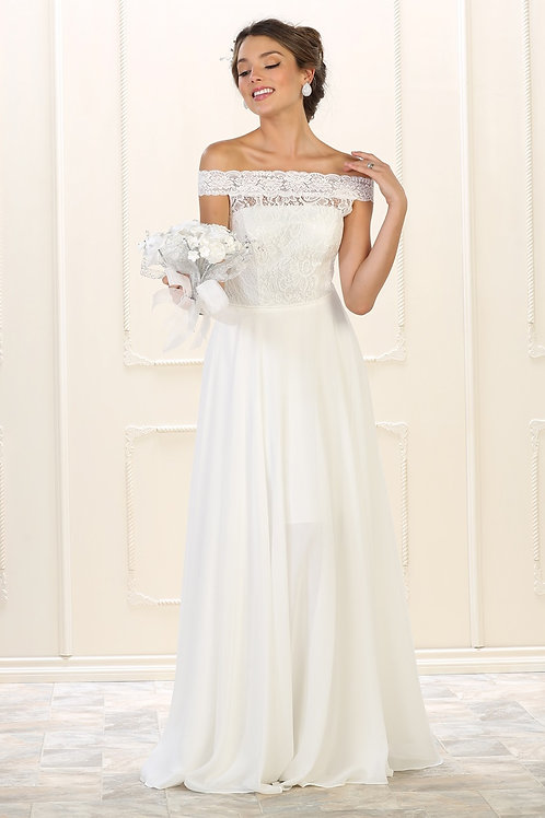 Ivory Lace Bridal Gown Size 12