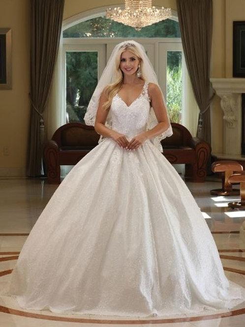 Off White Sparkle Bridal Ball Gown Size XL
