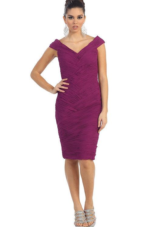Magenta Pleated Short Dress Size 8
